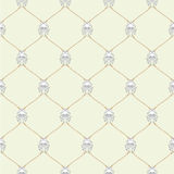 Nautical rope and tied Kraken seamless fishnet pattern. On beige background Stock Photo