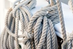 Nautical Ropes royalty free stock photography