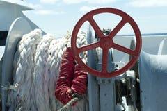 Nautical Ropes and Tiller Stock Photos