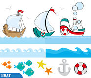 Nautical scrapbook set Stock Images