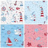 Nautical Sea Backgrounds vector illustration