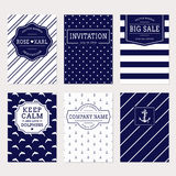 Nautical and sea banners. Vector set. Royalty Free Stock Photography