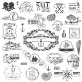 Nautical Sea Calligraphic Elements Stock Photo