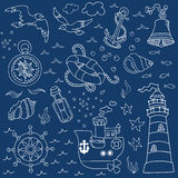 Nautical Sea Design Elements Stock Photography
