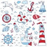 Nautical Sea Design Elements Stock Photos
