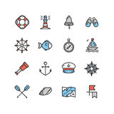 Nautical Sea Icon Set. Vector Stock Images