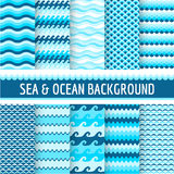 Nautical Sea Patterns Stock Image