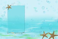 Nautical Sea Stars royalty free illustration