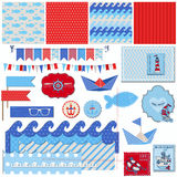 Nautical Sea Theme Stock Image
