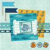 Nautical Sea Theme Royalty Free Stock Photos