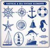 Nautical and Sea Vintage Illustration Royalty Free Stock Images