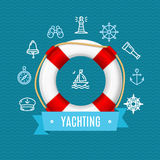 Nautical Sea Yachting Concept. Vector Stock Images