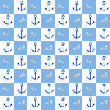Nautical seamless pattern Stock Photography