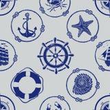 Nautical seamless pattern Royalty Free Stock Image
