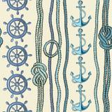 Nautical seamless pattern Stock Photography