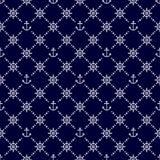 Nautical seamless pattern. Stock Image