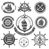 Nautical seamless pattern with background. Nautical seamless pattern with nautical background Stock Image