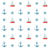 Nautical Seamless Pattern Royalty Free Stock Images