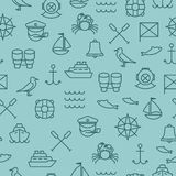 Nautical seamless pattern stock illustration