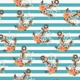 Nautical seamless pattern Stock Images