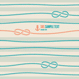Nautical seamless pattern vector illustration