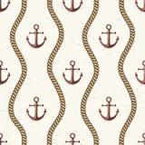 Nautical seamless pattern. Royalty Free Stock Photos