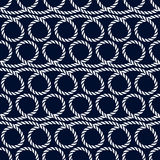 Nautical seamless pattern with rope. Vector background. Stock Photo