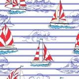 Nautical seamless pattern Stock Photo