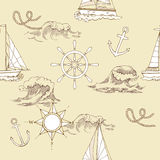 Nautical seamless pattern royalty free illustration