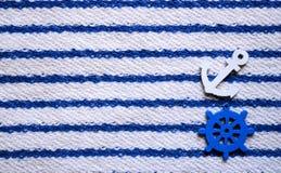 Nautical seamless pattern steering wheels  anchors sea theme. Nautical seamless pattern with steering wheels and anchors Sea theme Stock Image