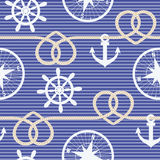 Nautical seamless pattern Stock Image
