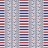 Nautical seamless pattern. Vector illustration. Royalty Free Stock Image