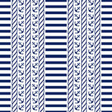 Nautical seamless pattern. Vector illustration. Stock Image