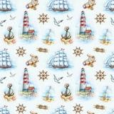Nautical seamless pattern