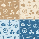 Nautical Seamless Patterns vector illustration