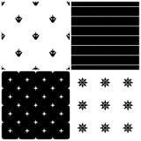Nautical seamless patterns Stock Photo