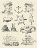 Nautical set Royalty Free Stock Photo