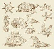 Nautical set Stock Image