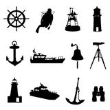 Nautical set vector Royalty Free Stock Photo