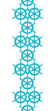Nautical ship wheels abstract blue vertical seamless pattern background Royalty Free Stock Image