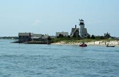 Nautical Shoreline. Picturesque shoreline in scenic Cape Cod, Massachusetts Stock Photo