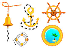 Nautical sign collection for design. Stock Images