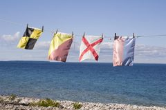 Nautical signal flags Stock Images