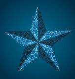 Nautical Star. Created with small circles to resemble a colorblind exam Stock Image