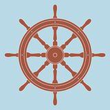 Nautical steering wheel Royalty Free Stock Photography