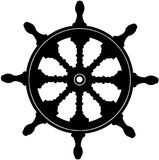 Nautical Steering Wheel cartoon Vector Clipart. Created in Adobe Illustrator in EPS format for illustration use in web and print Stock Photography