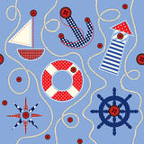 Nautical style pattern Royalty Free Stock Photos
