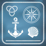 Nautical symbols Stock Images