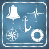 Nautical symbols Stock Image