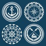 Nautical Symbols. And element set Stock Photography